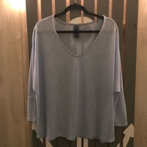 Flowy sky blue knit top woman's M